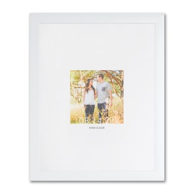 Photo and Date - Art Print - Framed and Personalized
