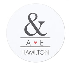 Ampersand & Heart Stickers