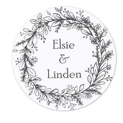 Rustic Wreath Stickers