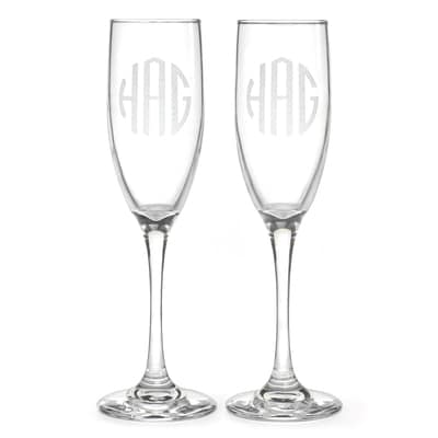 Curved Monogram Flutes