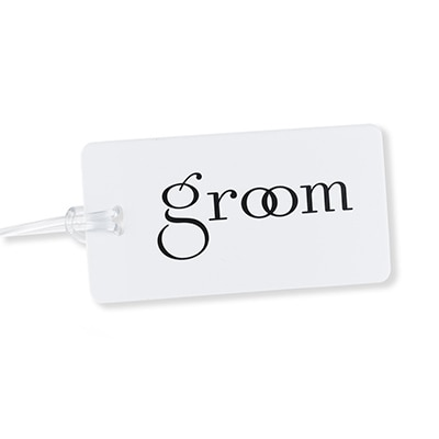 Luggage Tag - Groom with Rings