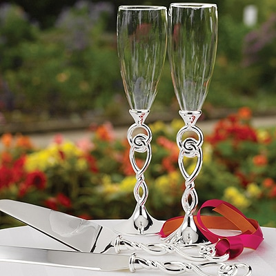 Love Knot Stem Flutes