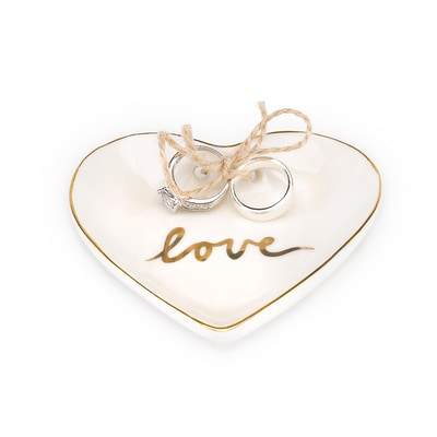 Gold Love Heart Ring Bowl