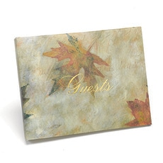 Maple Leaf Guest Book -