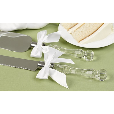 Faceted Acrylic Handle Serving Set