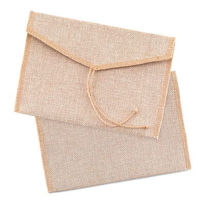Burlap Envelope - Package of 10 envelopes