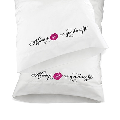 Kiss Me Good Night Pillow Case Set