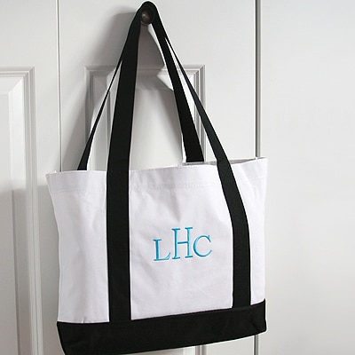 Tote Bags - Black and White