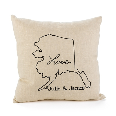 State of Bliss Linen Throw Pillow