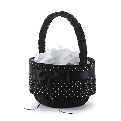 Polka Dot Flower Basket