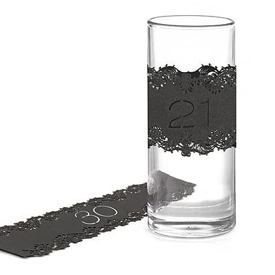 Laser-Cut Table Number Wraps 21-30 - Black