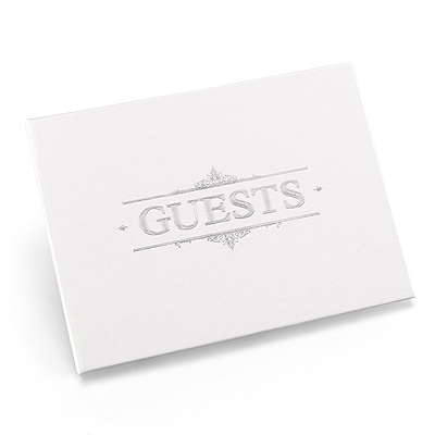 Baroque - Guest Book - Silver