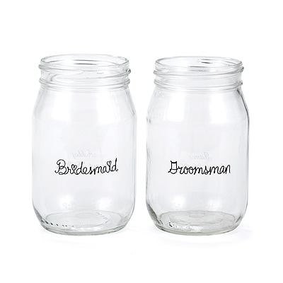 Wedding Party Drinking Jars - Bridesmaid and Groomsman