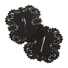 Laser-Cut Table Number Cards 1-10 - Black