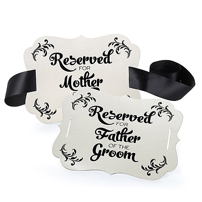 Reserved Chair Decoration - Parents of the Groom