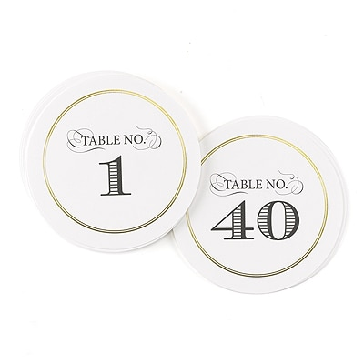Golden Elegance - Table Number Cards