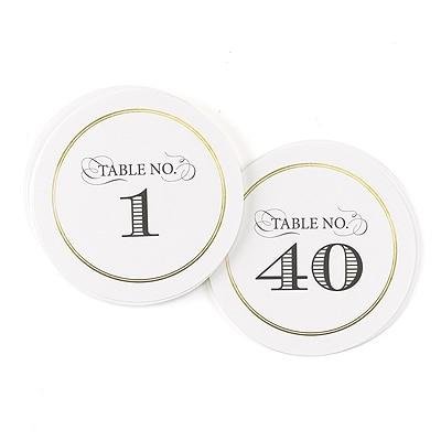 Golden Elegance - Table Number Cards