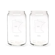 State of Bliss Can Glass Set
