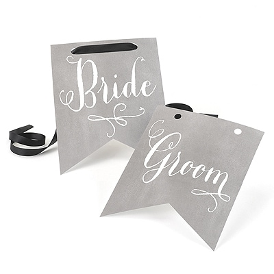 Charming Vintage - Signs - Bride & Groom