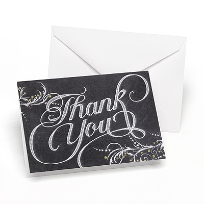 Whimsical Chalkboard - Thank You Note