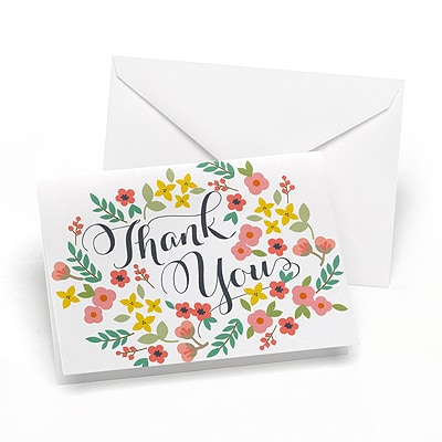 Retro Floral - Thank You Note
