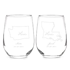 State of Bliss Stemless Wine Glass Set