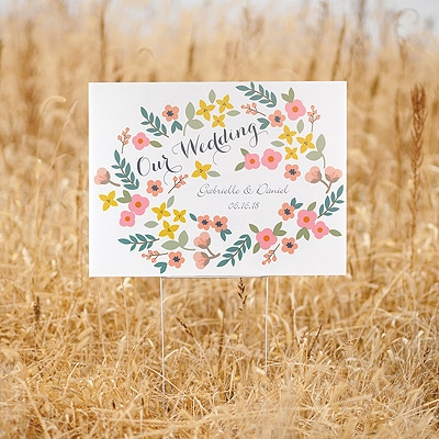 Retro Floral Yard Sign