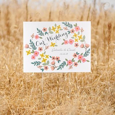 Retro Floral Yard Sign