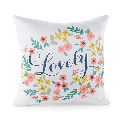 Retro Floral Pillow - Blank