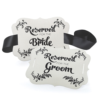 Reserved Chair Decoration - Bride & Groom