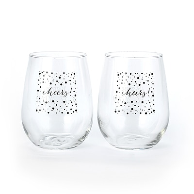 Cheers! - Stemless Wine Glass Set