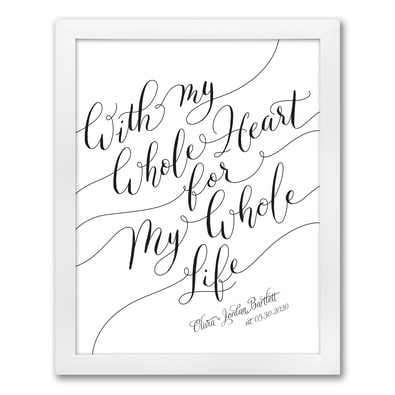 My Heart - Art Print - Framed