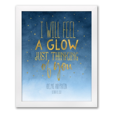 Night Stars Art Print - Framed