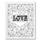 Whimsic Love Art Print - Design Only  - Framed