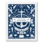 Nautical Art Print - Design Only - Framed