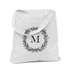 Wreath Monogram - Tote Bag