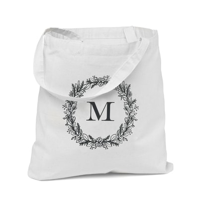 Wreath Monogram - Tote Bag
