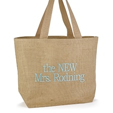 Custom Burlap Beach Bag