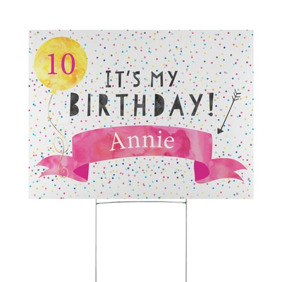 Speckled Birthday Yard Sign