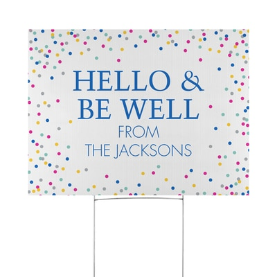 Dotted Greeting Yard Sign