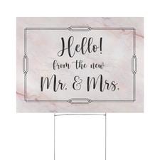 Wedding Hello Yard Sign