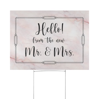 Wedding Hello Yard Sign