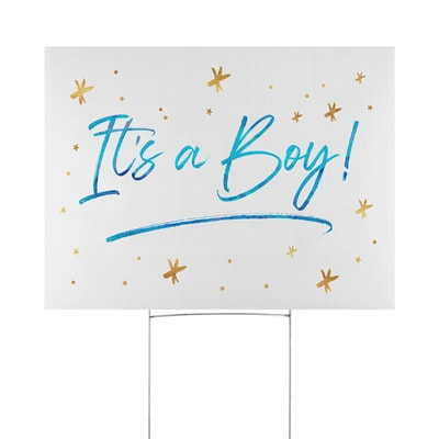 Exciting Proclamation Yard Sign - Boy