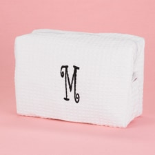 Personalized Cosmetic Bag - White