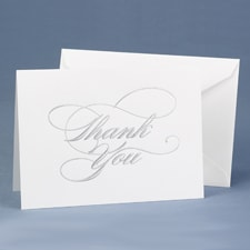 Silver - Thank You Card and Envelope