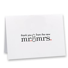 Mr. and Mrs. - Thank You Card and Envelope
