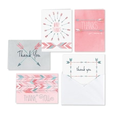 Watercolor Arrow - Thank You Set