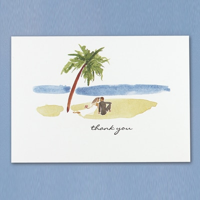 Paradise - Thank You Card and Envelope