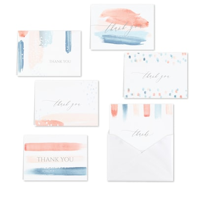 Paint Stripes Thank You Set