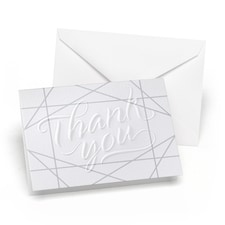 Geo Lines Embossed - Thank You